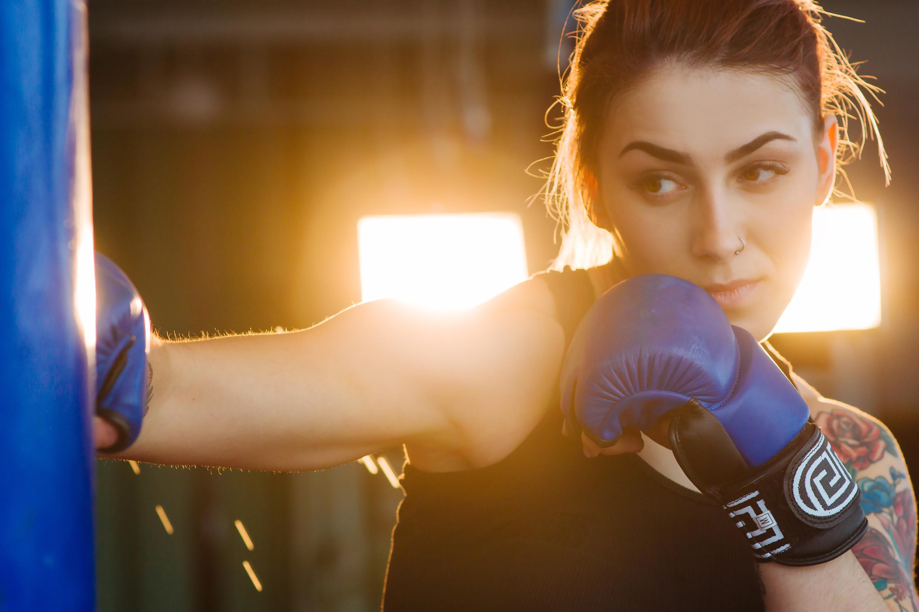 beautiful boxer woman